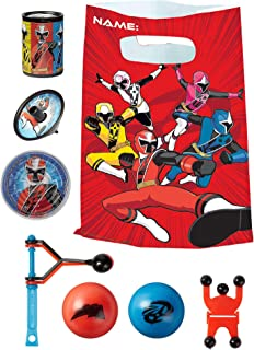 Party City Power Rangers Ninja Steel Basic Favor Supplies for 8 Guests, Include Plastic Party Favor Bags and Favors