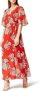 Marchio Amazon - TRUTH & FABLE Maxi Dress a Portafoglio in Chiffon Donna