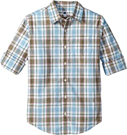 Roll Sleeve Button-Up Shirt (Toddler/Little Kids/Big Kids)