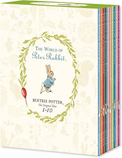 Peter Rabbit 10-Book Library (Coloured Jackets) [Hardcover] - By Beatrix Potter