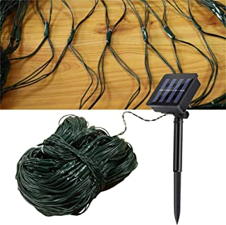 AMARS Garden Solar Net String Lights Outdoor 9.8ftx6.5ft 204leds Decorative Solar Mesh Fairy Light, 8 Modes, Waterproof - ...