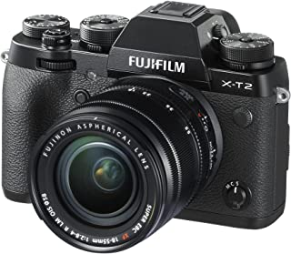 Fujifilm X-T2-24.3 MP Mirrorless Digital Camera with XF 18-55mm F2.8-4 R LM OIS Lens, Black
