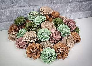 Sola Wood Flowers - Prairie Rose Assortment (Pack of 50)