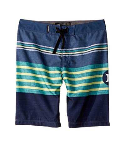 Hurley Kids Outrigger Striped Boardshorts (Big Kids) (Ocean Fog) Boy