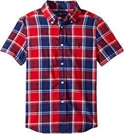 Cotton Madras Sport Shirt (Little Kids/Big Kids)