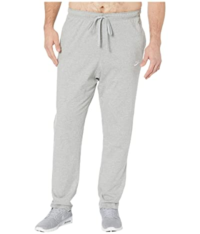 Nike Big Tall NSW Club Pants Open Hem Jersey (Dark Grey Heather/White) Men
