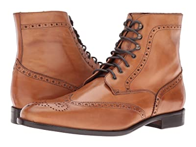 Massimo Matteo 7-Eye Wing Boot (Tan) Men