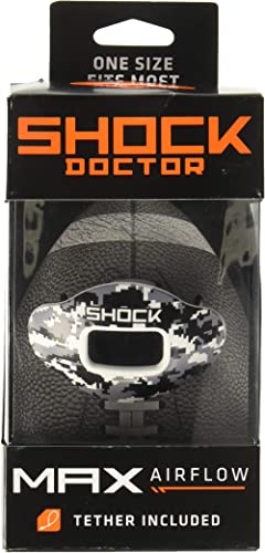 Shock Doctor Max Airflow Lip Guard, Football Mouth Guard w/ Detachable Helmet Strap product image