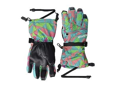 Burton Kids Vent Gloves (Little Kids/Big Kids) (Green/Blue Morse Geo) Extreme Cold Weather Gloves