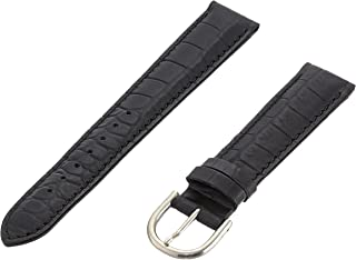 Momentum ZC-18CRG BLACK 18mm Croc Grain Leather Calfskin Black Watch Strap