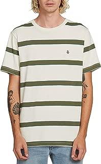 Volcom Men's Shaneo Striped Crew Neck Short Sleeve Shirt