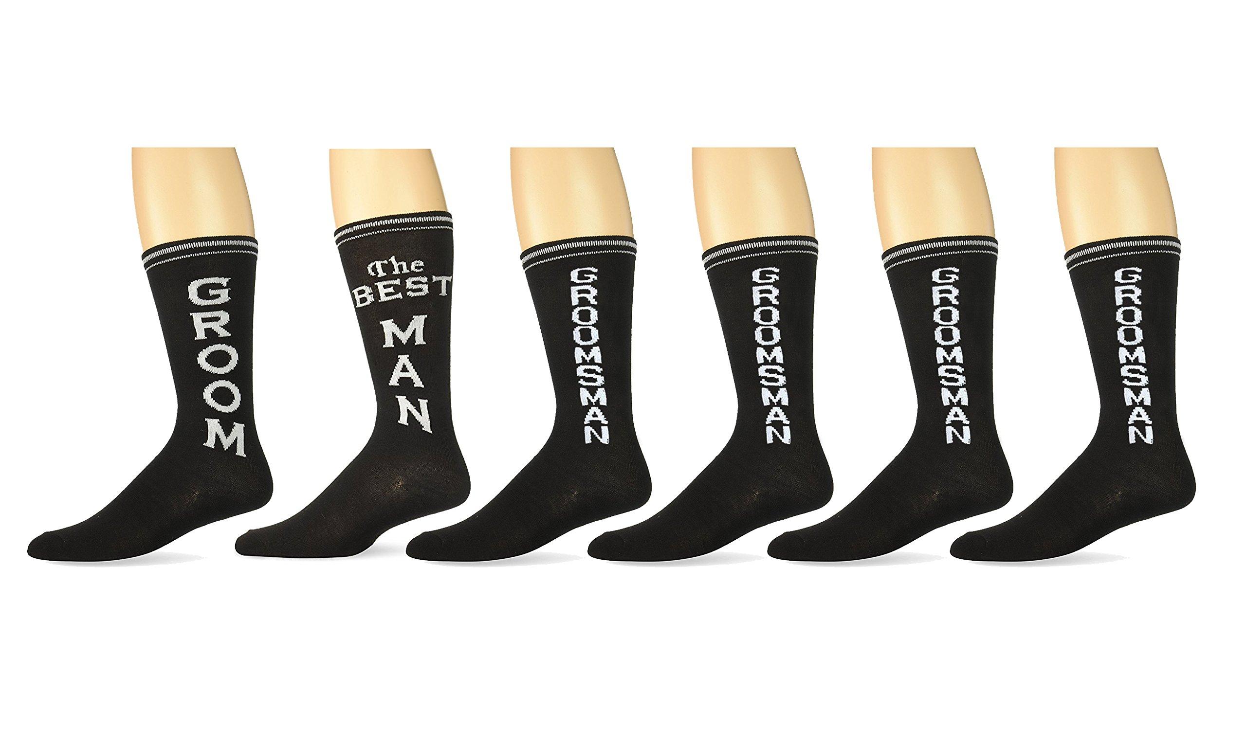 Mens Black Wedding Day Socks- Groom The Best Man and Groomsman Set  sc 1 st  Amazon.com & Menu0027s Groomsmen Gifts: Amazon.com