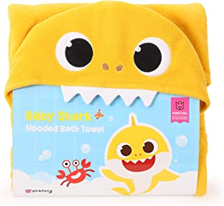 PINKFONG Baby Shark Hooded Bath and Beach Towel