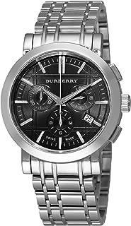 Burberry Men's BU1360 Heritage Silver Tone Stainless Steel Bracelet Dark Grey Dial Chronograph Watch