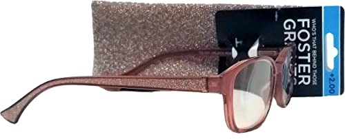 2021 Foster Grant Hair Notions Rose VRL2012 2021 wholesale Women Reading Glasses +2.00 outlet online sale