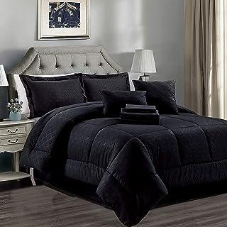 Amazon Com Bedding Comforter Sets Black California King Comforter Sets Comforters Home Kitchen