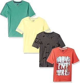 Spotted Zebra Boys' Toddler & Kids 4-Pack Short-Sleeve...