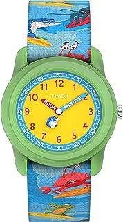 Timex Boys' Time Machines Analog 28mm Quartz Cloth Strap, Blue, 16 Casual Watch (Model: TW7C836009J)