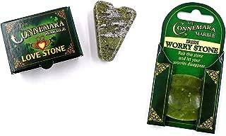 Worry Stone and Wishing Stone for LOVE, Irish Connemara Marble (Set of Two)