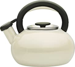 Prestige Enamel 1.4 Litre Retro Stove Top Kettle - Almond