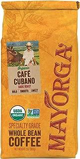 Mayorga Organics Cafe Cubano Dark Roast, 2 Pound, Whole Bean Coffee, Direct Trade, 100% USDA Organic Certified, Non-GMO, Kosher