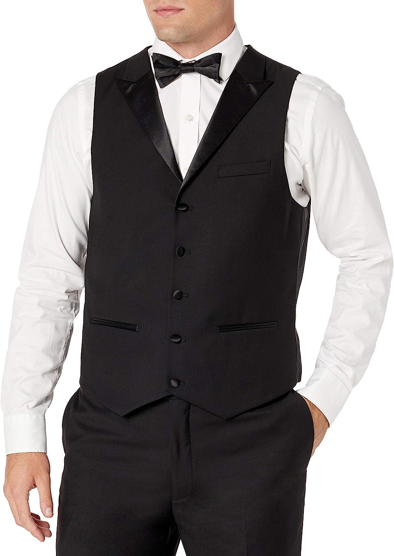 Adam Baker Men's 3 Piece Slim Fit Peak Lapel Tuxedo Suit Set - Colors