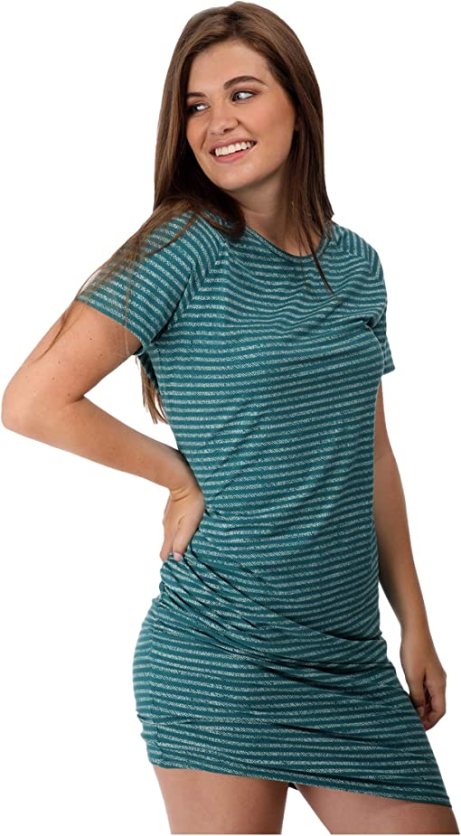 Textured Stripe Shaded Teal