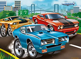 Ravensburger Muscle Cars 60 Piece Jigsaw Puzzle for Kids – Every Piece is Unique, Pieces Fit Together Perfectly