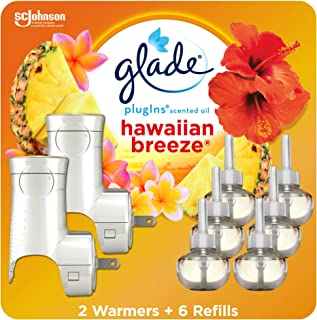 Glade PlugIns Refills Air Freshener Starter Kit, Scented Oil for Home and Bathroom,..