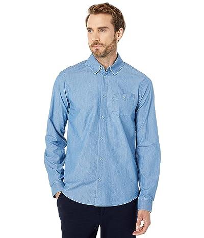 Scotch & Soda Regular Fit Ams Blauw Refined One-Pocket Shirt