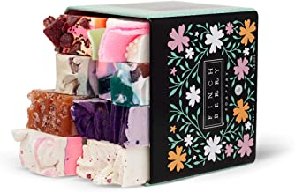 Finchberry Handmade Natural Soap Bar Gift Set, Moisturizing Shea Butter & Coconut Oil, Organic and Sustainable Ingredients, Bestseller Assortment Tin