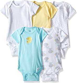 Gerber Baby Girls' 5-Pack Variety Onesies Bodysuits