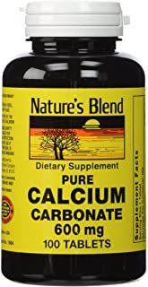 Nature's Blend Pure Calcium Carbonate 600 mg 100 Tabs