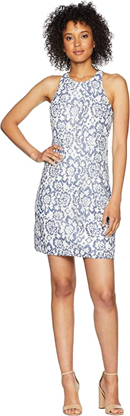 Adrianna Papell Elise Lace A Line Dress