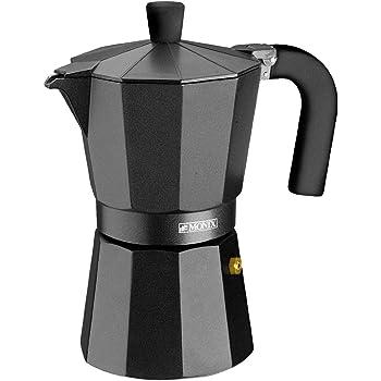 Monix Vitro Noir – Cafetera Italiana de aluminio, capacidad 6 ...