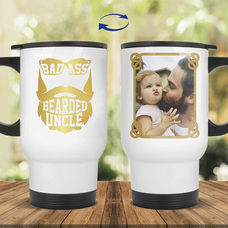 FamWix Personalized Limited price sale Photo Badass Bearded Uncle Ceramic Mu Ranking TOP16 Coffee