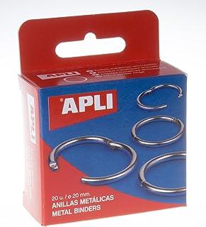 APLI 451 - Caja con 20 anillas metálicas (20 mm