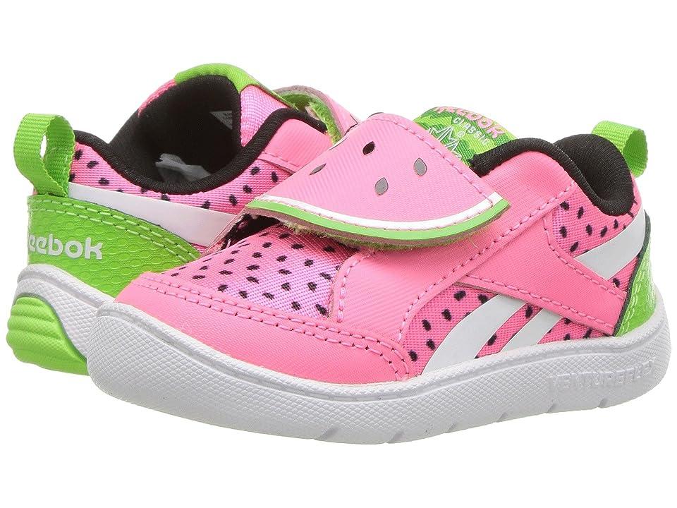 Reebok Kids Ventureflex Chase II (Infant/Toddler) (Pink Zing/Green) Girls Shoes