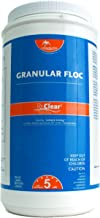 Rx Clear Granular Floc   Swimming Pool and Spa Flocculant Chemical   for Use with Sand Filters   Coagulates Dust for Easy Water Cleaning   Keeps Water Crystal Clear   5 Pound Bottles   Single Pack
