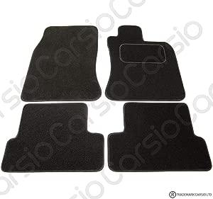 Carsio Tailored Black Carpet Car Mats for BMW Mini Cooper 2001-2006 Piece Set