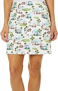 Golf Womens Golf Cart Print Pull On Skort 16W Short