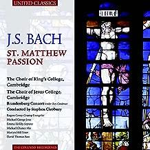 Bach St. Matthew Passion. Rogers Covey-Crump Michael George Emma Kirkby Michael Chance Ma