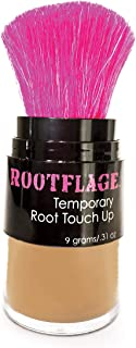 Rootflage Root Touch Up Hair Powder - Temporary Hair Color, Gray Coverage, Root Concealer, Thinning Hair Filler, Dry Shampoo- Kabuki Applicator (05 Light Brown)