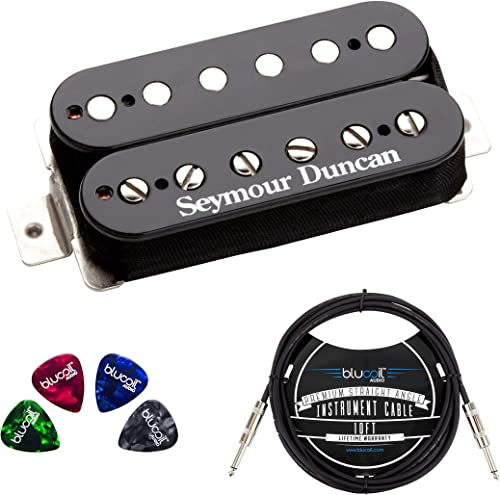 high quality Seymour Duncan TB-4 JB Trembucker High Output Humbucker Pickup (Black Bridge) Bundle with Blucoil lowest 2021 10-FT Straight Instrument Cable (1/4in), and 4-Pack of Celluloid Guitar Picks outlet sale