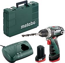 Metabo POWERMAXX BS BASIC 1400 RPM 800 g - Taladro eléctrico (1400 RPM, 1 cm, 1,8 cm, 34 Nm, 17 Nm, 301 in-lb)