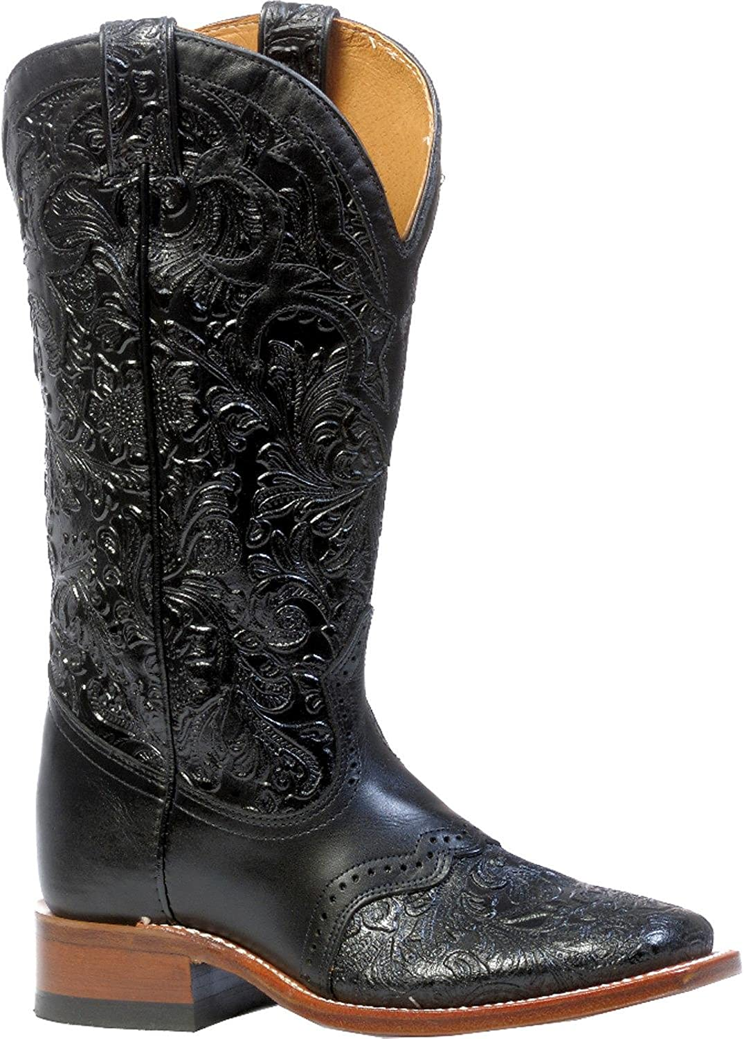 Boulet Women's Hand Tooled Ranger Cowgirl Boot Square Toe