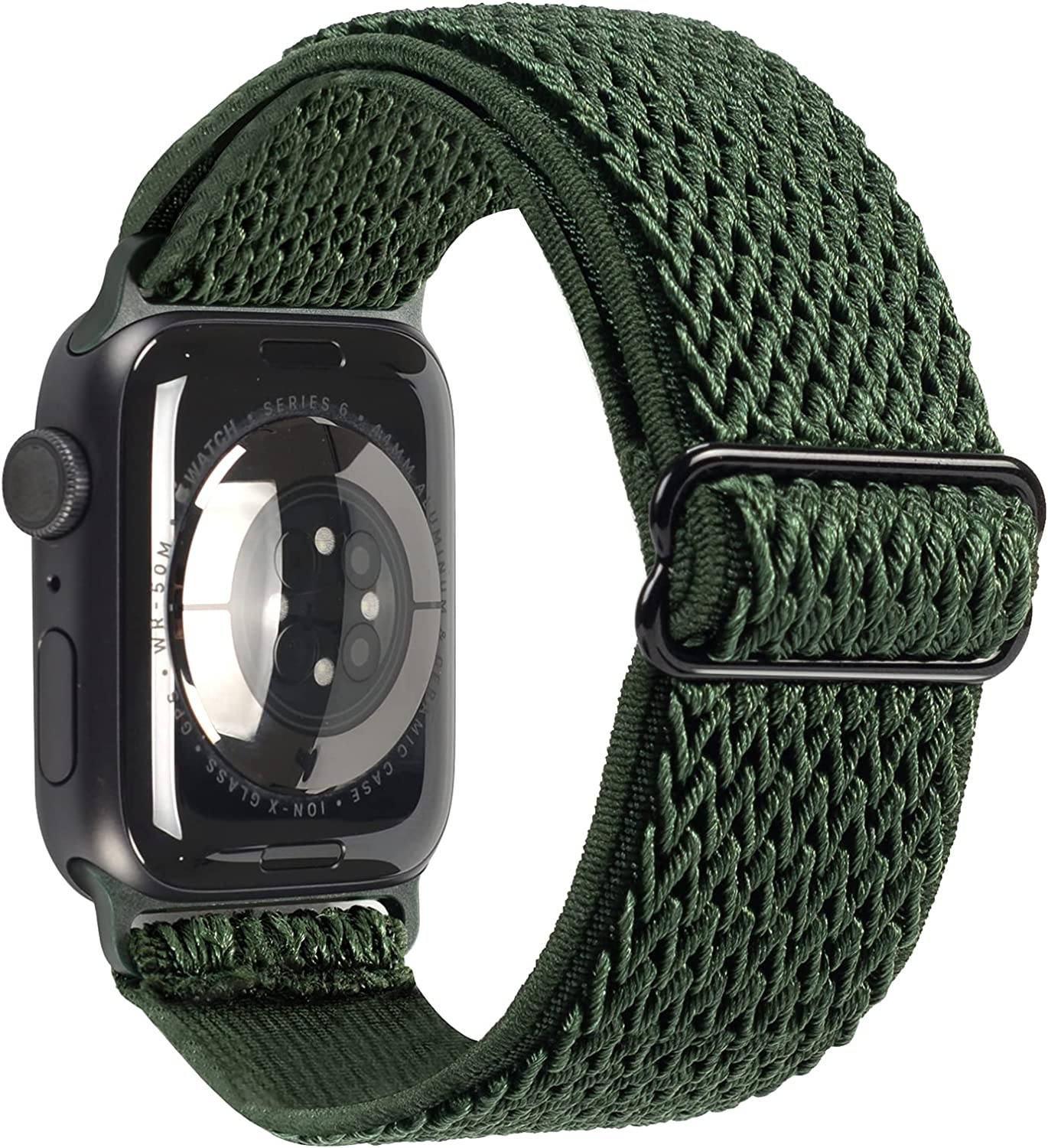 Stretchy Sport Loop Compatible with Apple Watch Bands 38mm 40mm, Women Men Nylon Braided Elastic Adjustable Replacement Wristband for iWatch Series SE 6 5 4 3 2 1