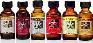 Bakto Flavors Natural Collection, Fruit - VERSION 4 - 6 (1 OZ) Bottles - Mango, Raspberry, Blood Orange, Peach, Coconut, L...