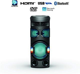 Sony MHC-V72D   High Power Party Speaker   One Box Music System with 360˚ Lighting   V72D - Black