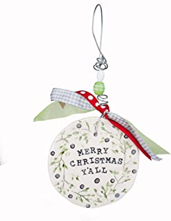 Glory Haus Merry Christmas Y'all Flat Ornament, Multicolor